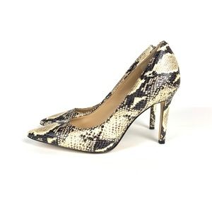 Sam Edelman Hazel Leather Snake Skin Pumps Sz 6